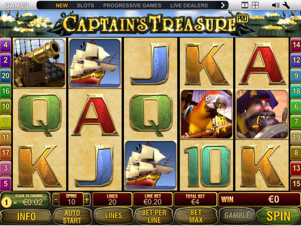 เกมCaptain's Trea Sure ที่ได้รับการยอมรับจากผู้เล่นทั่วโลก