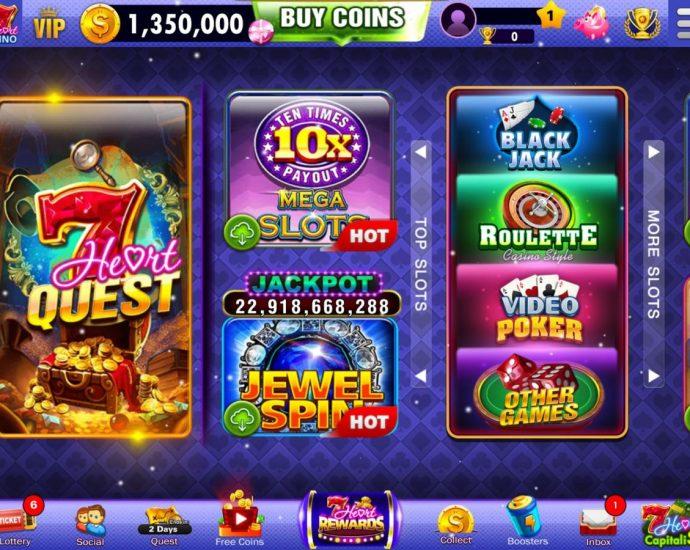 แอพ Vegas Slots - 7Heart Casino แอพเปิดใหม่ที่แจกเหรียญไม่อั้น