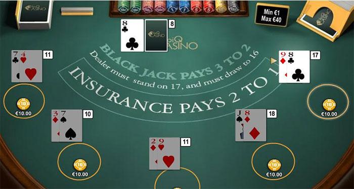 Blackjack ไพ่ 21 การเล่นไพ่ที่ต้องบวกเลขให้ครบ 21